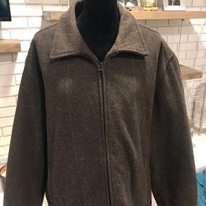 Men's Gap Wool Blend Brown with Light Stripes, xxl